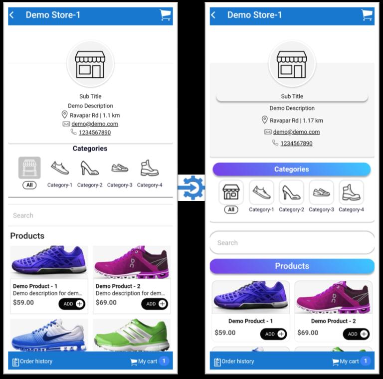 css template1 for commercepro  webvista
